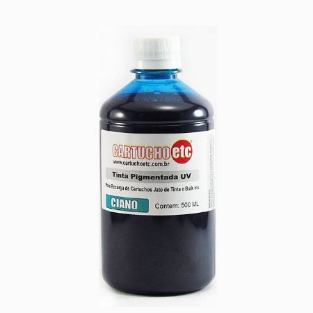 Tinta Inktec Pigmentada Epson E0007-01LC Ciano | Azul 500ml Bulk Ink Transfer