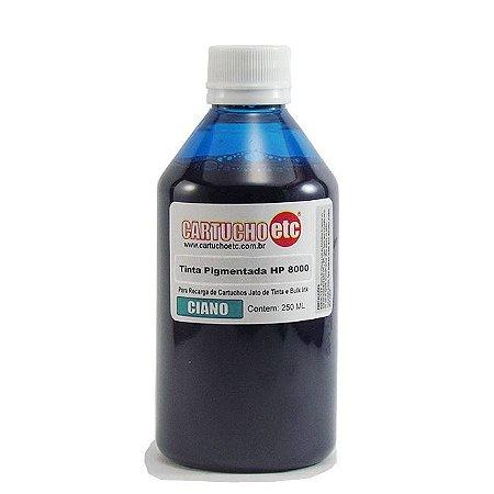 Tinta Inktec Pigmentada HP Serie 8000 H8940-01LC Ciano 250ml