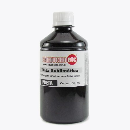 Tinta Sublimatica Inktec Preto Black Epson Sublimação 500ml