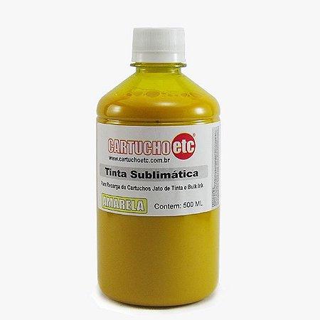 Tinta Sublimatica Inktec Amarela Epson Sublimação 500ml