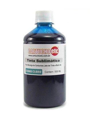Tinta Sublimatica Inktec   Mizink UV Ciano Claro Epson para Transfer e Sublimação 1 Litro
