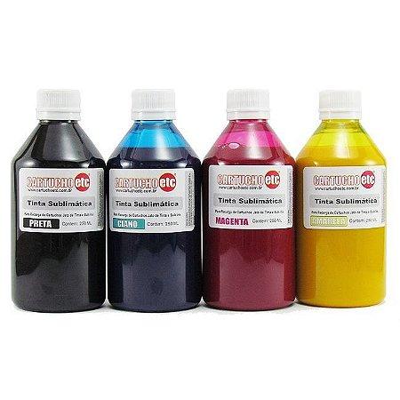 Kit 1 Litro de Tinta Sublimatica Inktec | Mizink Epson 250ml de Cada Cor | 4 Cores
