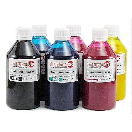 Kit 1,5 Litro de Tinta Sublimatica Inktec | Mizink Epson 250ml de Cada Cor | 6 Cores