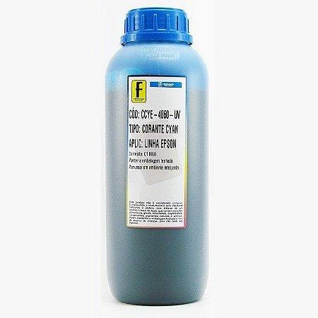 Tinta para Epson L110 L200 L355 L800 Ciano Azul Corante UV Importada 1 Litro