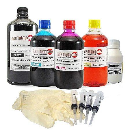 Hiper Kit de Recarga de Cartuchos Epson e Bulk Ink com 2,5 Litros de Tinta