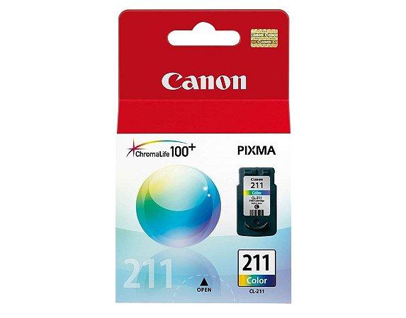 Cartucho Canon CL211 Colorido MP240 MP260 MP480 IP3600 CL 211