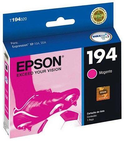 Cartucho Epson 194 Magenta Original T194320 XP104 XP204 XP214