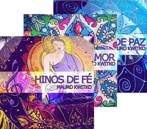 BOX de três CD's: Hinos de Fé , Hinos de Amor e Hinos de PAZ - Físico ou Download