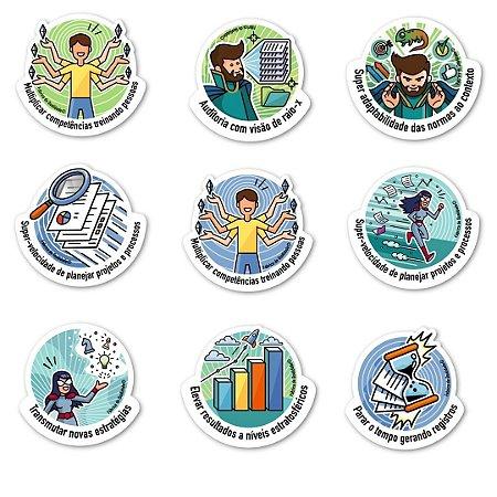 Pacote de Stickers dos Super Poderes da Qualidade