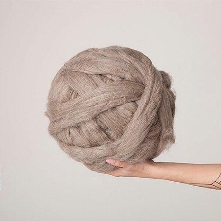 Lã Marrom para Maxi Tricô