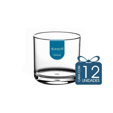 12 Copos Whisky 320 ml Transparente