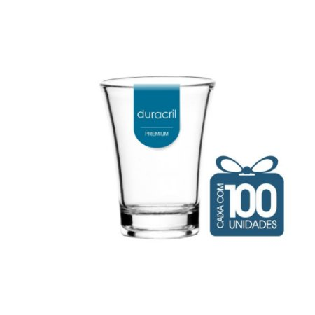100 Copos Tequila 50 ml Transparente