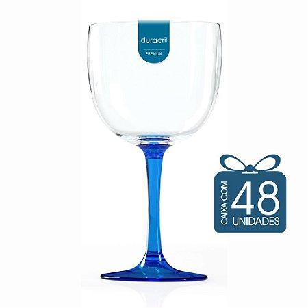 48 Taças de Gin Bicolor 580 Ml Azul Escuro Translúcido
