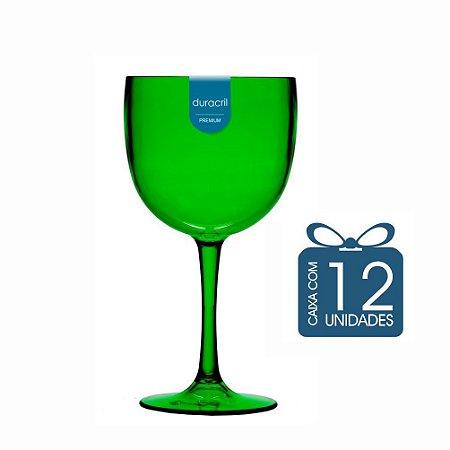 12 Taças de Gin 450 Ml Verde Translúcido