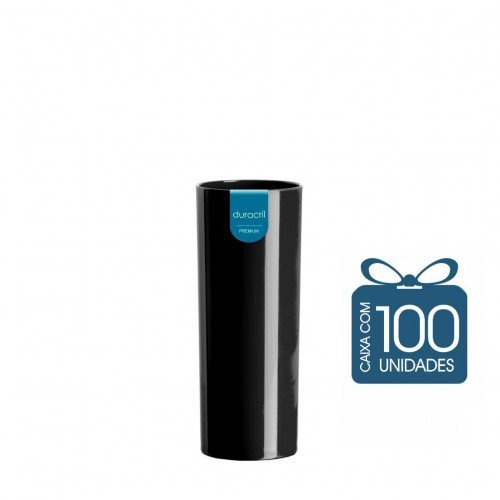 100 Copos Long Drink 330 ml Preto