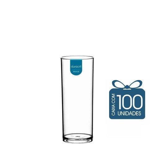 100 Copos Long Drink 330 ml Transparente