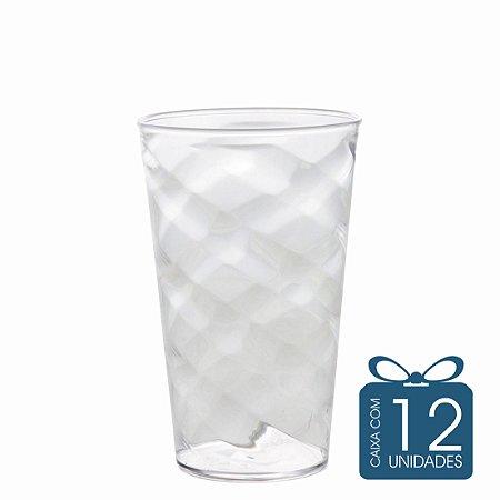 12 Copos Twister 500 ml Transparente