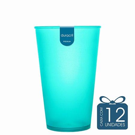 12 Copos Ecológico Biodegradável 550 ml Verde Claro