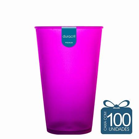 100 Copos Ecológico Biodegradável 550 ml Roxo