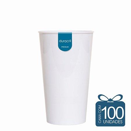 100 Copos Twister 500 ml Branco