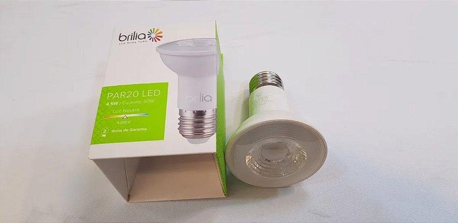 Lampada Led Par20 Bi-Volt 4,5W 4000K - Brilia