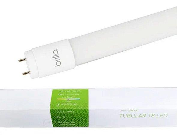 Lampada Led Tubo T8 60cm Bi-volt 9,8W 4000K - Brilia