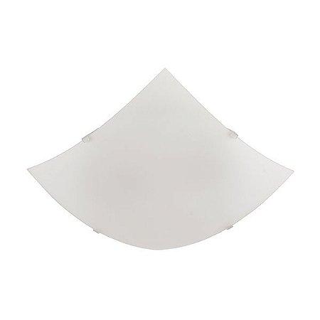 PLAFON QUAD. 30cm 2xE27 AC. CRISTAL (817010-04) BLUMENAU