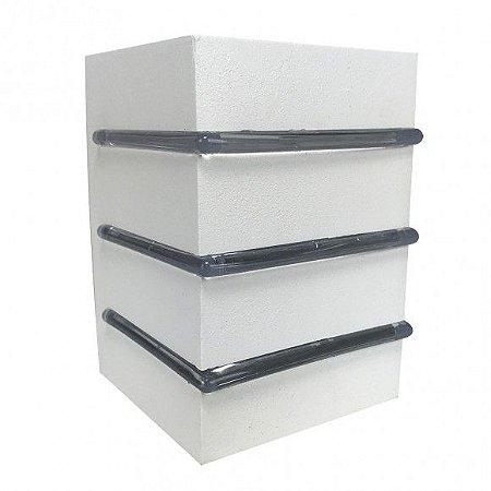 Balizador Aluminio 1XG9 2 Fachos Grandes 3 Aletas Branco Fosco Blumenau