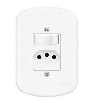 Interruptor Blanc 1+1 Simples 10A 04313574 - Fame
