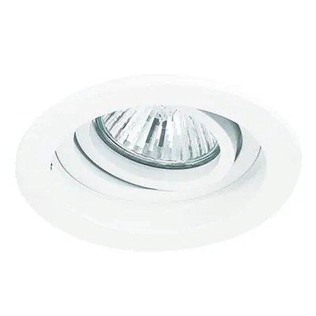 Spot Embutido Redondo Para Dicroica Branco Preto Ns7000P