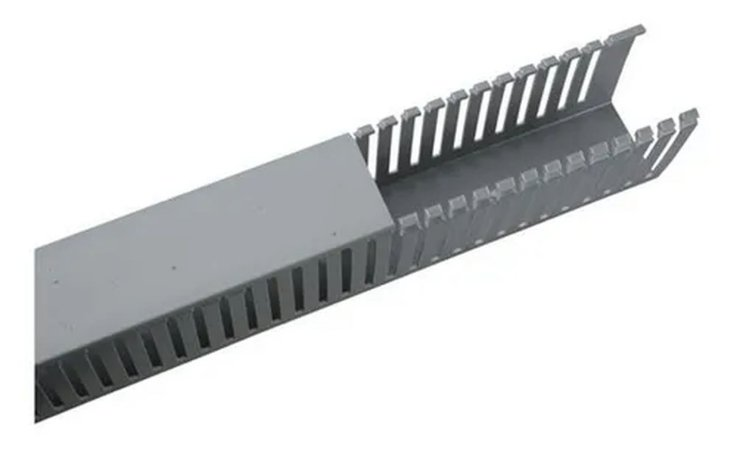 CANALETA HELADUCT ABERTA 50 X 50MM HD-4P CINZA