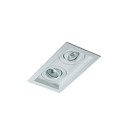 Spot Embutido Quadrado Para Lampada Dicroica Gu10 (RE-1213/2)  Revoluz