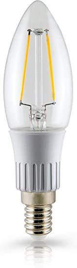 LAMPADA VELA FILAM CLARA BI-VOLT E14 3W 2700K - OUROLUX