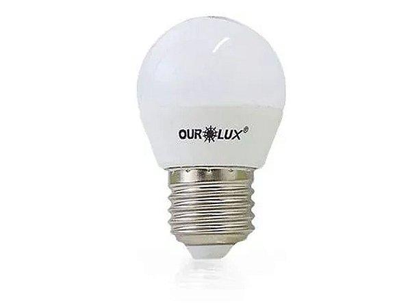 Lampada Superled Bulbo Bi-Volt S30 4W 6500K - Ourolux