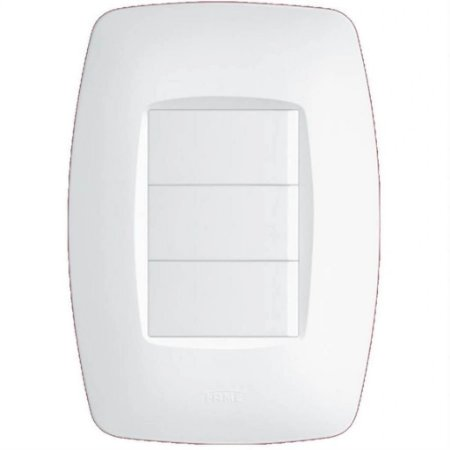 Interruptor Elegance 3 Teclas Simples 10A (09122544) - Fame