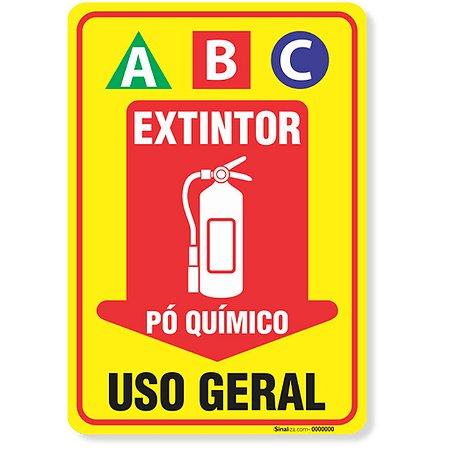 PLACA DE SINALIZACAO 30X20 (EXTINTOR PÓ ABC) SINALIZANDO