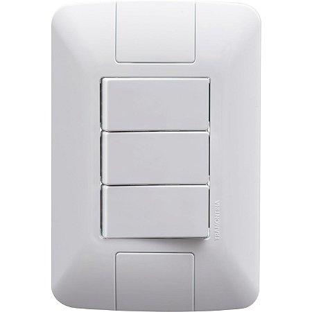 Interruptor Aria Branco Paralelo 3 Teclas 6A/250V (57241078) - Tramontina