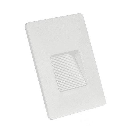 BALIZADOR CLEAN LED IP65 4x2 RECUADO 3W 6.500K - BRANCO - BLUMENAU