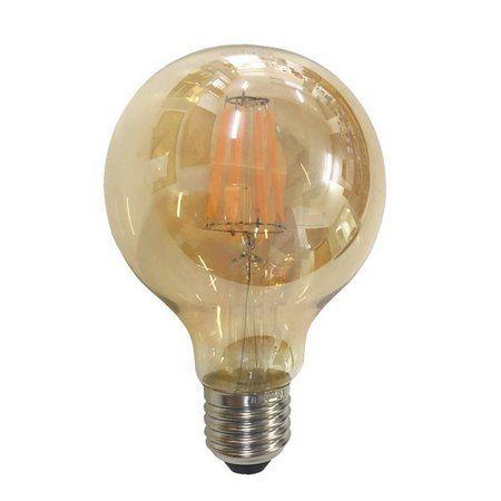 LAMPADA LED FILAMENTO G95 4W E-27 AMBAR (11865) SORTELUZ