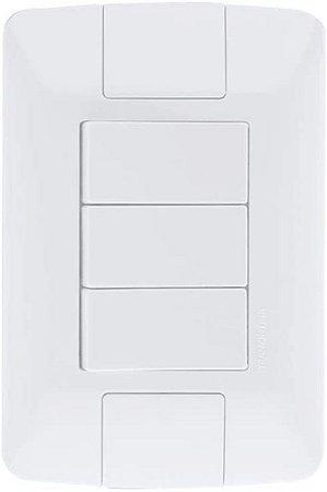 INTERRUPTOR ARIA BRANC SIMPLES 3 TECLAS 6A/250V TRAMONTINA