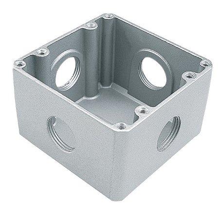 Caixa de Piso Aluminio 4 X 4 Alta Fechada (56120000) - Tramontina