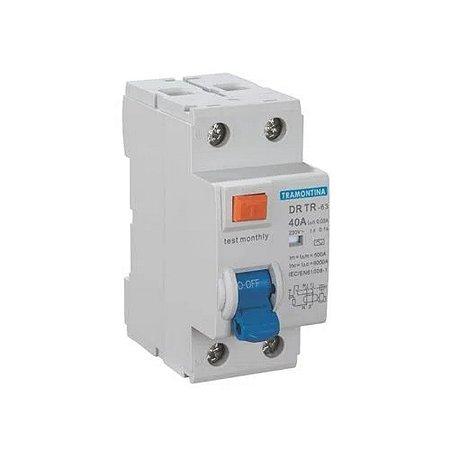 Dispositivo DR Modelo TR-63 2 Polos 25A 30MA 6KA (58014060) - Tramontina