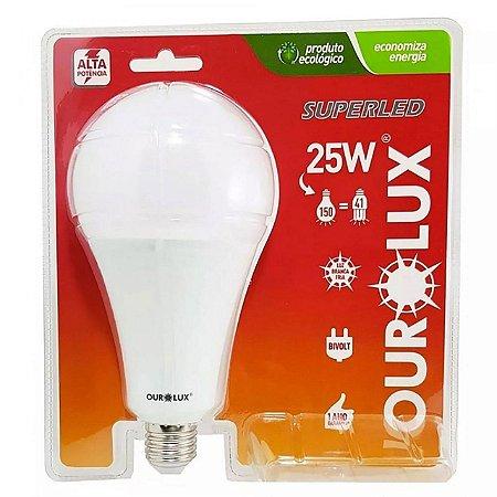LAMPADA LED E27 BULBO ALT POTENCIA 25W 6500K OUROLUX