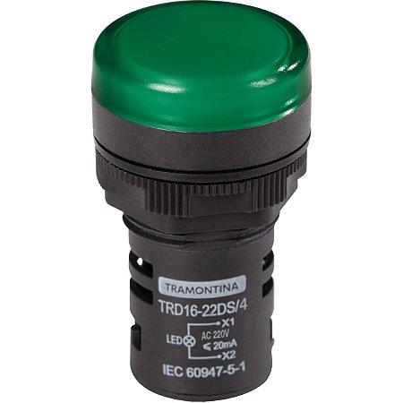 SINALIZADOR TIPO LED TRD 16-22DS/4 220V VERDE/ TRAMONTINA