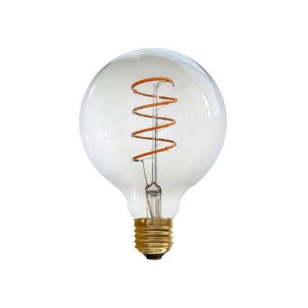 LAMPADA LED G95 GLOBO ESPIRAL AMBAR 4W 2200K POWER - JMX