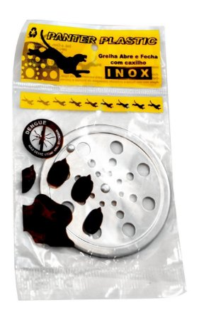 GRELHA 15 X 15 INOX REDONDA/ PANTER