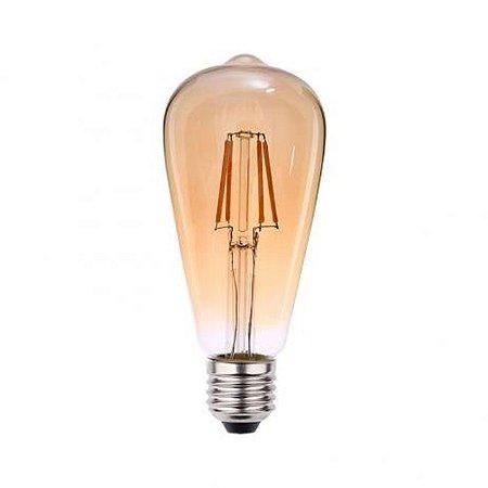 """LAMPADA LED E27 4W BI-VOLT """"PERA"""" ST64X140MM  FILAMENTO (0326000) BLUMENAU"""