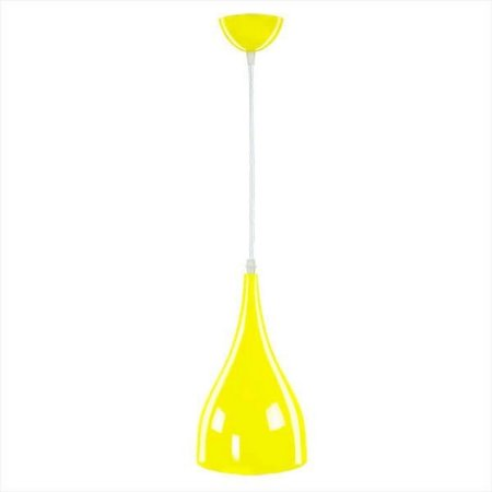 Pendente Em Aluminio Cor Amarelo  Amarica Light