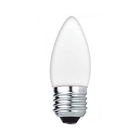 LAMPADA VELA 25W E27 220V LEITOSA  SORTE LUZ