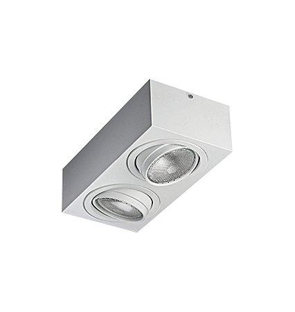 Spot Sobrepor Quadrado Para Lampada  Par30 E27 Sura RS-2007/2 BFM (2541) Revoluz